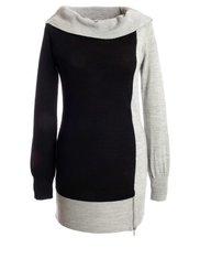 Двухцветный пуловер (серый/черный) Bonprix