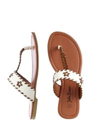 Пантолеты с перемычкой для большого пальца (белый/светло-коричневый) Bonprix