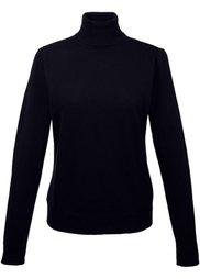 Пуловер с высоким воротником (темно-синий) Bonprix