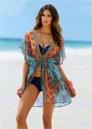 Пляжное кимоно (бирюзовый) Bonprix