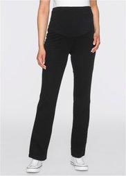 Для будущих мам: удобные трикотажные брюки (черный) Bonprix