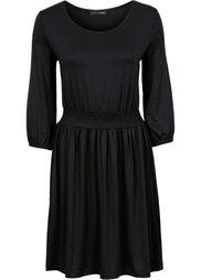 Трикотажное платье (карминно-красный с рисунком) Bonprix