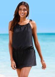 Пляжное платье из купального материала (черный) Bonprix