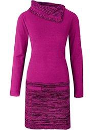Вязаное платье 2 в 1 (черный) Bonprix