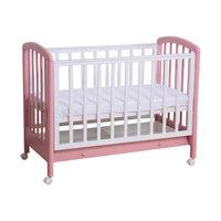 Кроватка 600, выдвижной ящик, Фея, белый-розовый