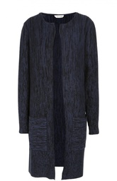 Удлиненный кардиган с круглым вырезом и накладными карманами HUGO BOSS Black Label