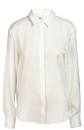 Шелковая блуза прямого кроя DKNY