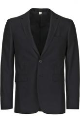 Шерстяной костюм с однобортным пиджаком Burberry