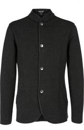 Однобортный пиджак с воротником стойкой Giorgio Armani