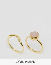 Набор колец с розовым кварцем Ottoman Hands - Rose quartz