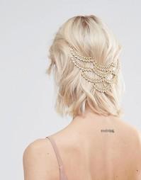 Драпированное украшение для волос Love Rocks Pool Party - Золотой