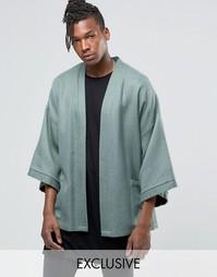 Куртка в стиле карате с поясом Reclaimed Vintage - Хаки