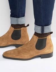 Замшевые ботинки челси Dune Marlown - Рыжий