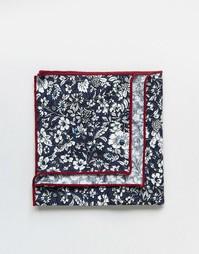 Квадратный платок для пиджака с цветочным принтом в коробке 7X