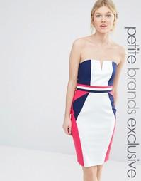 Облегающее платье в стиле колор блок Paper Dolls Petite - Мульти