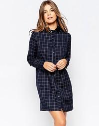 Платье-рубашка в клетку Poppy Lux Tamara - Темно-синий