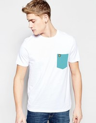 Белая футболка с контрастным карманом Lyle & Scott - Белый