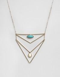 Ожерелье в два ряда с бирюзой Nylon