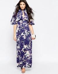Платье макси с цветочным принтом и рукавами-кимоно Liquorish