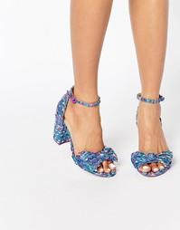 Сандалии на блочном каблуке с бантиками ASOS HAMMOCK - Мульти