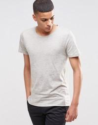 Меланжевая футболка Selected Homme - Хаки