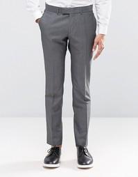 Темно-серые супероблегающие брюки Ben Sherman Camden - Серый