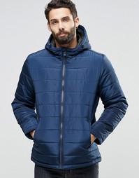 Стеганая куртка с капюшоном Only & Sons - Темно-синий