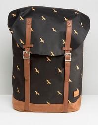 Черный рюкзак с принтом птиц Spiral Hampton - Черный