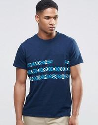 Футболка с полосками на груди и карманом Hollister - Темно-синий