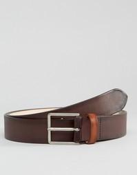 Коричневый кожаный ремень Paul Smith - Коричневый
