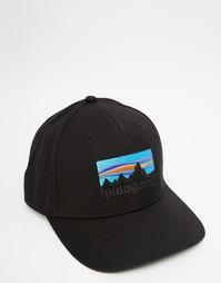 Бейсболка с логотипом Patagonia 73 - Черный