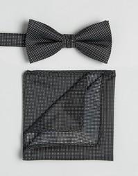 Галстук и платок для пиджака Selected Homme - Черный