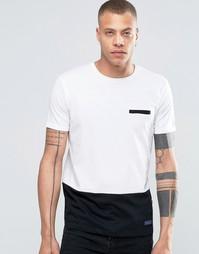 Футболка с контрастной кромкой !SOLID Tailored & Originals - Черный
