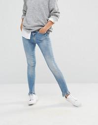 Укороченные джинсы Noisy May - Бледно-синий