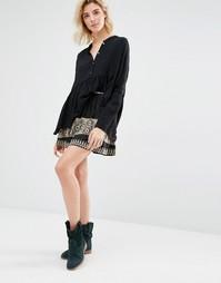Мини-юбка с вышивкой Gat Rimon Inta - Noir