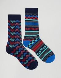 Набор из 2 пар полосатых носков Urban Eccentric - Мульти