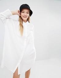 Платье-рубашка Weekday - Белый