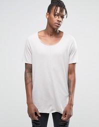 Длинная футболка ASOS - Светло-серый