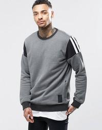 Свитшот с круглым вырезом adidas Originals Elevate AY8729 - Черный