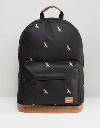 Черный рюкзак с птицами Spiral - Черный