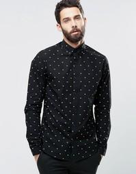 Рубашка с принтом Only & Sons - Черный