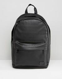 Черный рюкзак из искусственной кожи Spiral - Черный