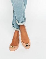 Телесные туфли на плоской подошве Vivienne Westwood for Melissa Space