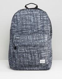 Черный рюкзак с принтом Spiral - Серый