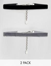 2 бархатных ожерелья-чокер Krystal