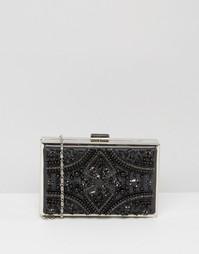 Черный прямоугольный клатч с отделкой Chi Chi London - Черный