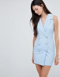 Платье-смокинг Love - Тонкая синяя полоска