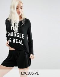 Пижамный комплект с шортами Adolescent Clothing Snuggle - Черный