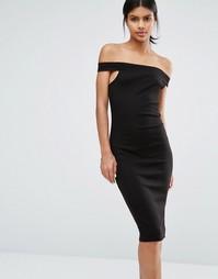Облегающее платье с открытыми плечами Vero Moda - Черный