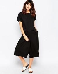 Жаккардовая строгая юбка‑шорты Native Youth - Черный